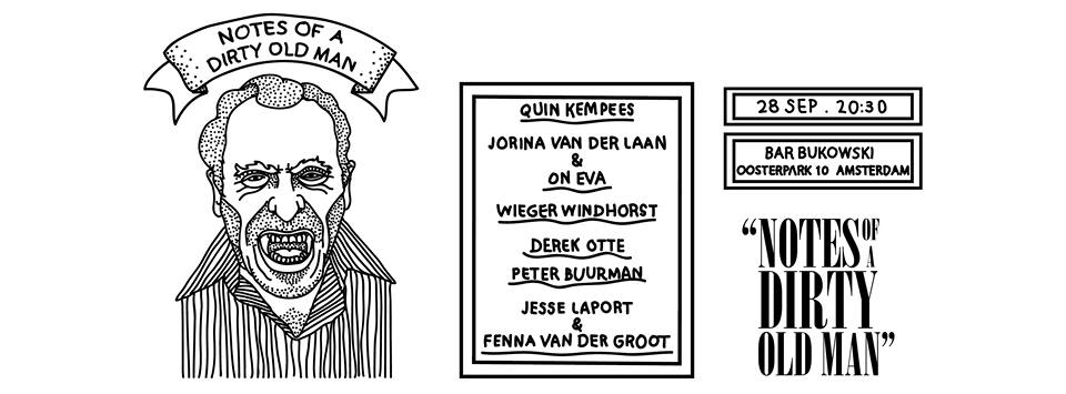 Jesse Laport en Fenna van der Goot in Bar Bukowski Amsterdam 28 september 2015