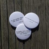 Buttons met poëzie (UITVERKOCHT)