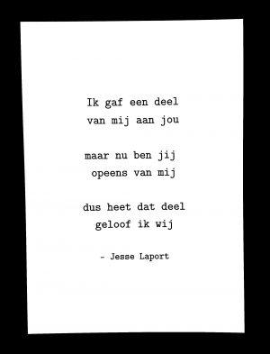 Jesse Laport, liefdesgedicht, cadeau, valentijn, lief, poëzie